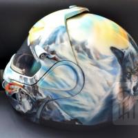 Шлем для снегохода Волки